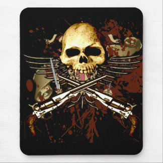 Skull and Sixshooters Mouse Pad