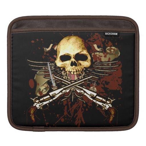 Skull and Sixshooters Six Gun Revolvers iPad Sleeve