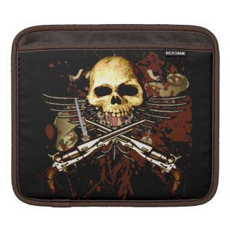 Skull and Sixshooters Six Gun Revolvers Sleeve For iPads