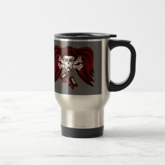 skull and skates 15 oz stainless steel travel mug