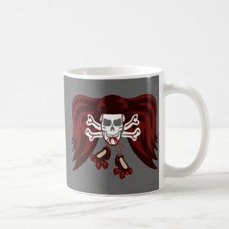 skull and skates mug
