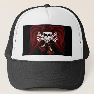 skull and skates trucker hat