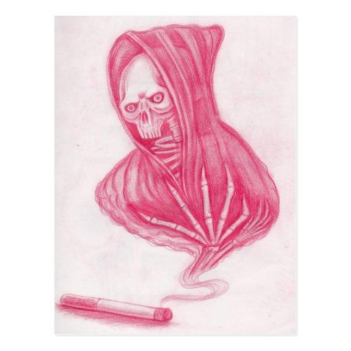 Skull and Smoke Postcard