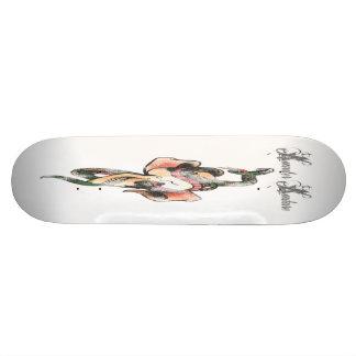 Skull and Snake Skate Board Deck