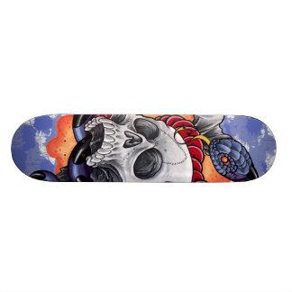 Skull and Snake Skateboard