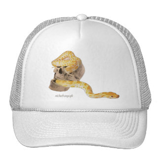 """""""Skull and Snake"""" Truckers Hat"""
