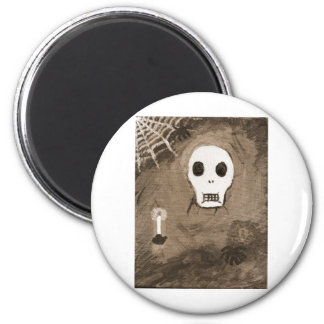 Skull and spider 2 inch round magnet