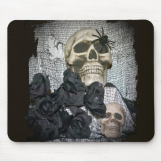 Skull and Spider Mouse Pad