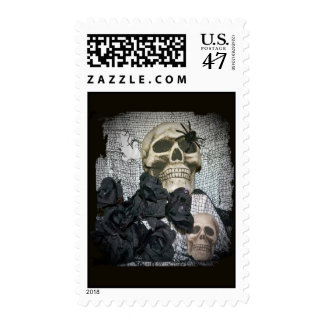Skull and Spider Postage