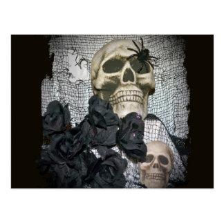 Skull and Spider Postcard