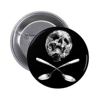 Skull and Spoons Button