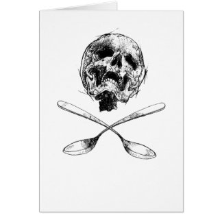 Skull and Spoons Card