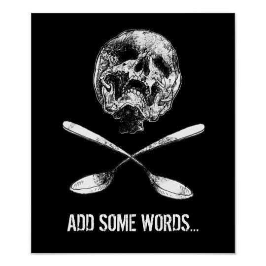 Skull and Spoons Poster