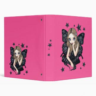 Skull and Stars Pink Gothic Fairy Binder