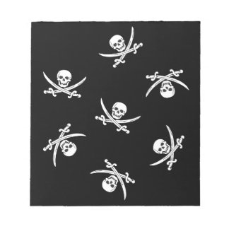 Skull and sword notepad