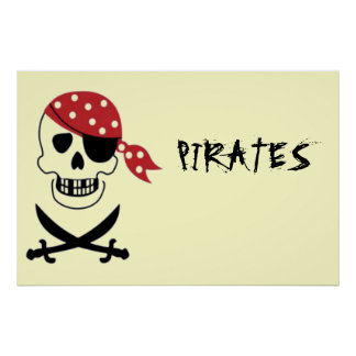 Skull And Sword Pirates Poster