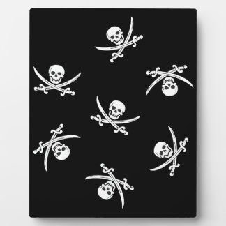 Skull and sword photo plaques