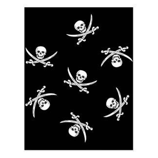 Skull and sword postcard