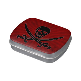 Skull and Swords Candy Tin