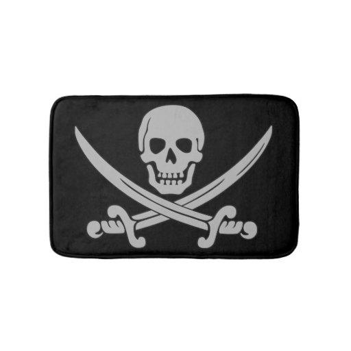 Skull And Swords Pirate Bath Mat Zazzle
