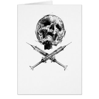 Skull and Syringes Card
