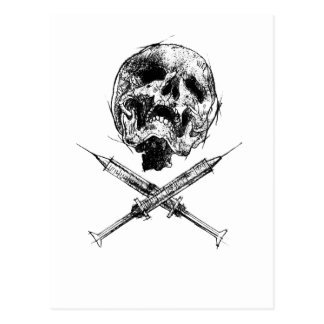 Skull and Syringes Postcard