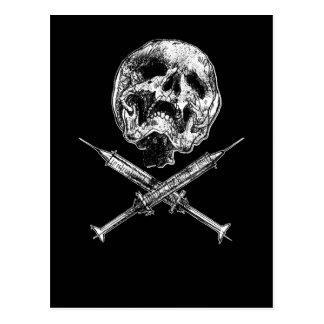 Skull and Syringes Postcards