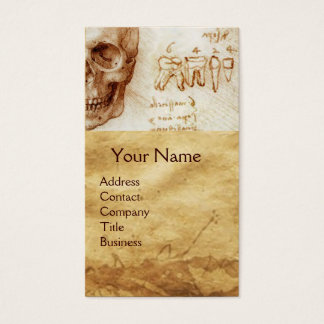 SKULL AND TEETH,DENTAL CLINIC,DENTIST MONOGRAM BUSINESS CARD