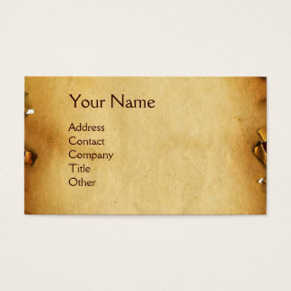 SKULL AND TEETH,DENTAL CLINIC ,DENTIST PARCHMENT BUSINESS CARD