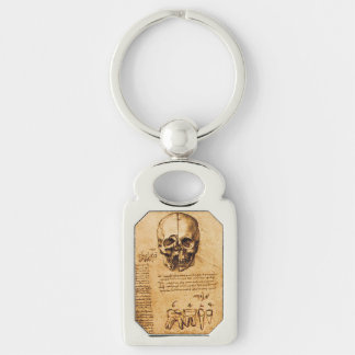 SKULL AND TEETH ,DENTAL CLINIC ,DENTIST Parchment Keychain