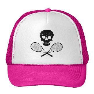 Skull and Tennis Racquets Trucker Hat