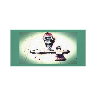 """Skull and Tomahawk"" Photo Art Canvas Print"