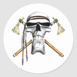 Skull and Tomahawks Stickers