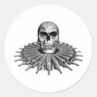 Skull and UZI Stickers