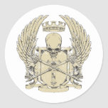 skull and wings customizable design sticker