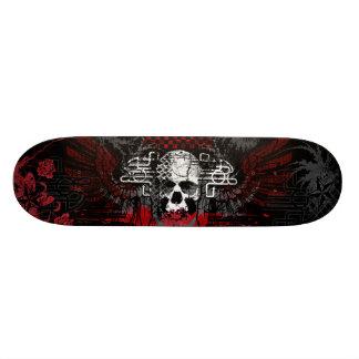 Skull and wings Grunge Skateboard Deck