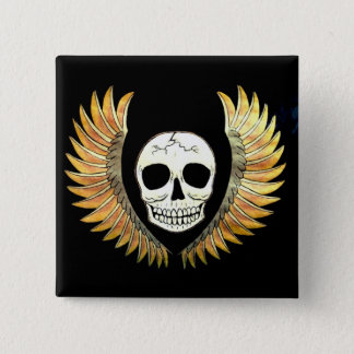 Skull and Wings Pinback Button