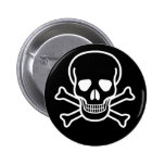 Skull and X 2 Inch Round Button