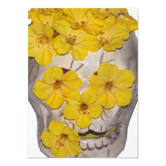 Skull and Yellow Flowers Announcements