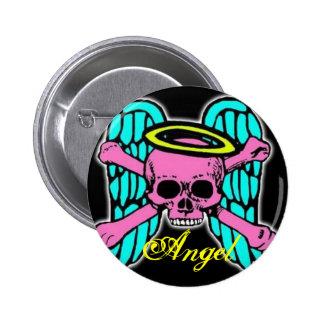 Skull Angel button