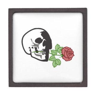 skull applique with rose premium jewelry boxes