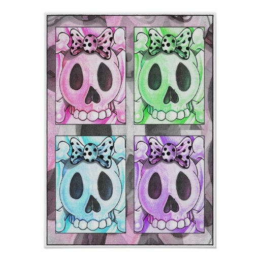 """Skull are for Sissies: Technicolor 16""""x22"""" Poster"""