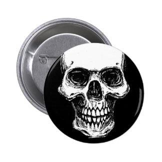 Skull Art Badge Pin