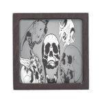 Skull art design premium keepsake boxes