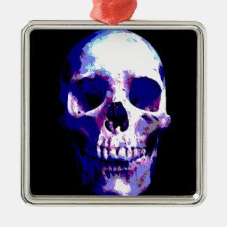 Skull Artwork Metal Ornament