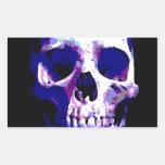 Skull Artwork Rectangular Stickers