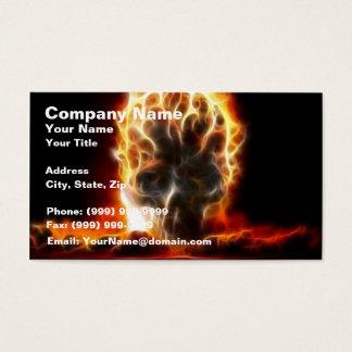 Skull Atomic Bomb Business Card