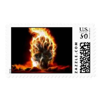 Skull Atomic Bomb Postage