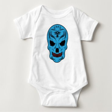 Halloween Themed Skull Baby Bodysuit