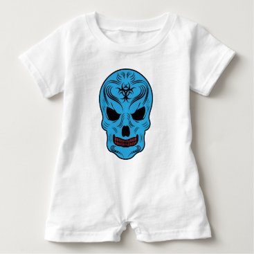 Halloween Themed Skull Baby Romper